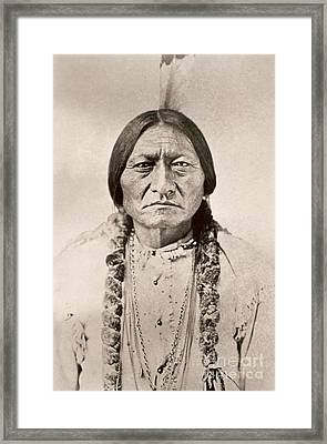 Sitting Bull  Framed Print by David Frances Barry