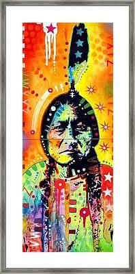 Sitting Bull Framed Print by Dean Russo