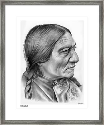 Sitting Bull Framed Print by Greg Joens