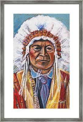 Sitting Bull Framed Print by John Keaton