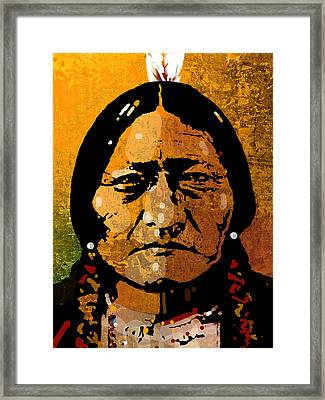 Sitting Bull Framed Print by Paul Sachtleben