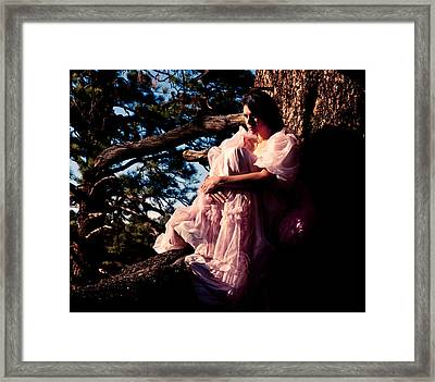 Sitting In A Tree Framed Print by Scott Sawyer