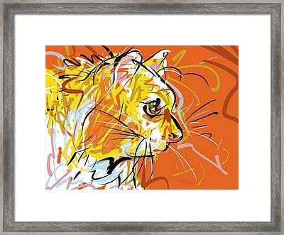 Sitting Kitty Framed Print by Brett LaGue