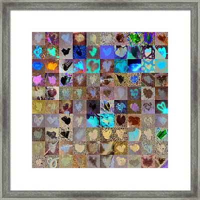 Six Hundred Series Framed Print by Boy Sees Hearts