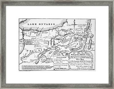 Six Nations Map 1771 Framed Print by Granger