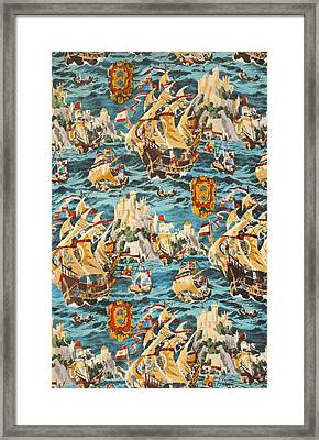 Sixteenth Century Ships Framed Print by Harry Wearne