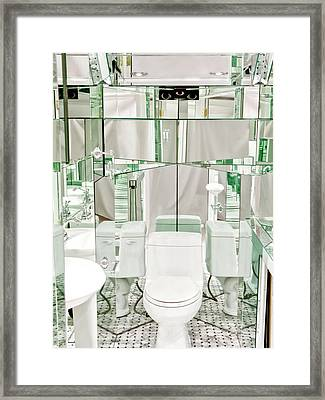 Sixth Chakra Ajna Third Eye Mirrored Vanity Framed Print by Frank Pasquill