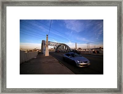 Sixth Street Bridge, Los Angeles Framed Print by Daniella Segura