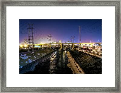 Sixth Street Bridge Framed Print by Nathan Sebakijje
