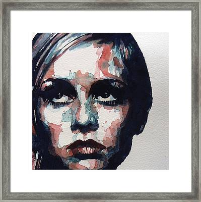 Sixties Sixties Sixties Twiggy Framed Print by Paul Lovering