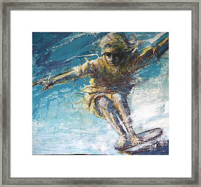 Skate Hang Five Framed Print by Andoni Galdeano