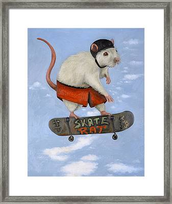 Skate Rat Framed Print by Leah Saulnier The Painting Maniac