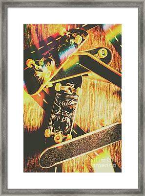 Skateboarding Tricks And Flips Framed Print by Jorgo Photography - Wall Art Gallery