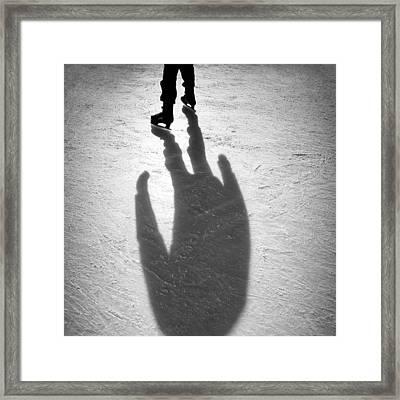 Skater Framed Print by Dave Bowman