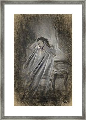 Sketch Of Adonis Framed Print by Joaquin Abella