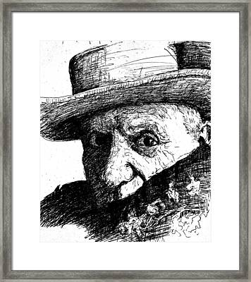 Sketch Of Picasso Framed Print by Dan Earle