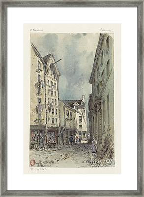 Sketch Record Of Paris Buildings Framed Print by MotionAge Designs
