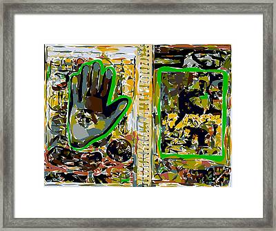 Sketchbook Eye-in-hand And Abstraction Framed Print by F Burton