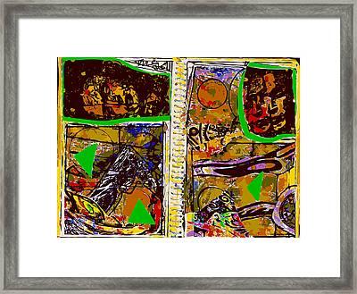 Sketchbook Frida Kahlo Variation Framed Print by F Burton