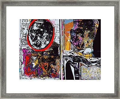 Sketchbook Heads And Abstraction Framed Print by F Burton