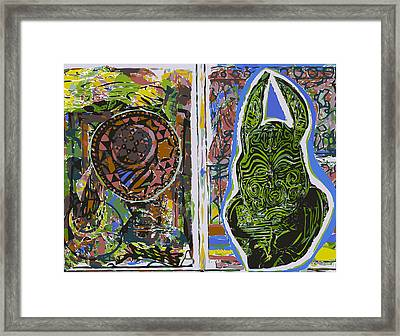 Sketchbook Mandalla And Hare Framed Print by F Burton