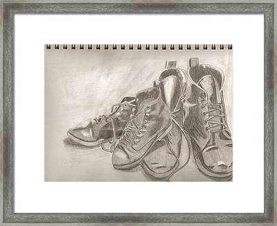 Sketchbook Shoes Framed Print by Jeanette Lindblad