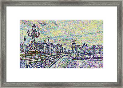 Sketchbook View Paris Framed Print by Mario Carini