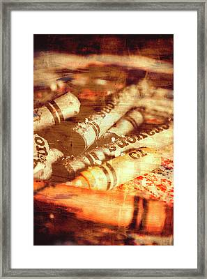 Sketchy Old Fine Art Palette Framed Print by Jorgo Photography - Wall Art Gallery