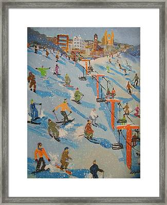 Ski Hill Framed Print by Rodger Ellingson