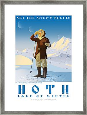Ski Hoth Framed Print by Christopher Ables