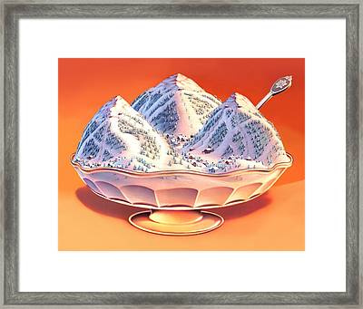 Skiers Sundae Framed Print by Robin Moline
