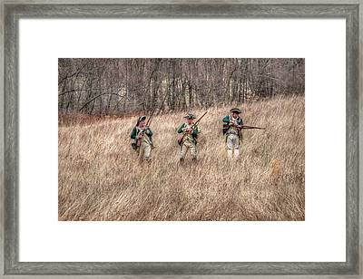 Skirmish Line Framed Print by Randy Steele