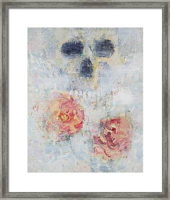Skull And Roses Framed Print by Fabrizio Cassetta