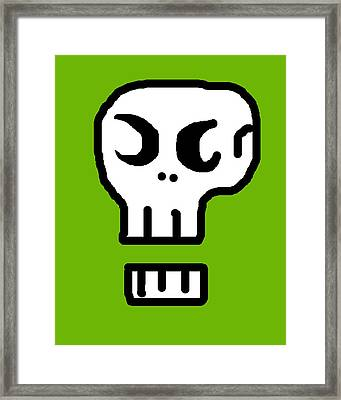 Skull Framed Print by Jera Sky