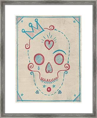 Skull Kids Framed Print by Francisco Valle