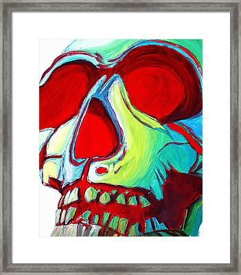 Skull Original Madart Painting Framed Print by Megan Duncanson