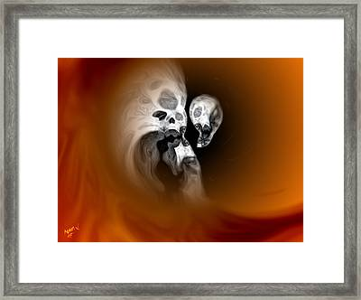 Skull Scope 2 Framed Print by Adam Vance