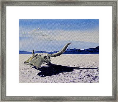 Skull Framed Print by Steve Beaumont