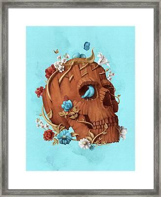 Skull Tree Framed Print by Francisco Valle