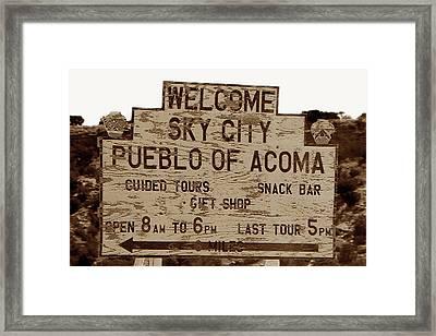 Sky City Sign Framed Print by David Lee Thompson
