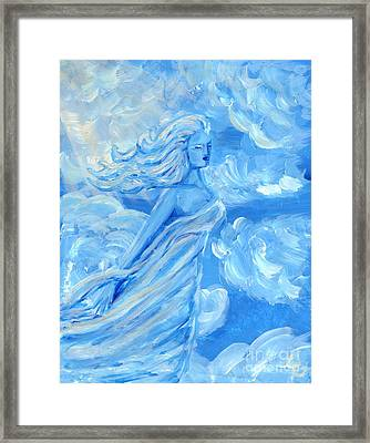Sky Goddess Framed Print by Cassandra Geernaert