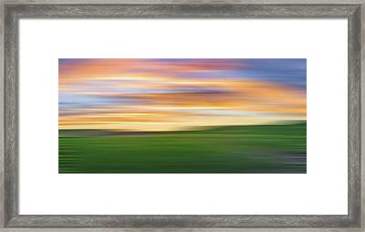 Sky On The Palouse V Framed Print by Jon Glaser
