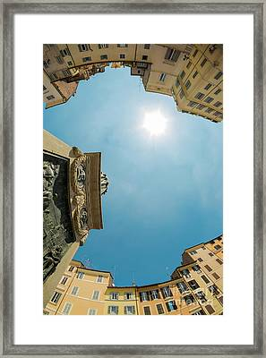 Sky Over Campo Dei Fiori - Rome, Italy Framed Print by Wietse Michiels