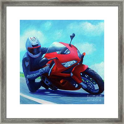 Sky Pilot - Honda Cbr600 Framed Print by Brian  Commerford