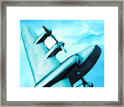 Sky Plane Framed Print by Slade Roberts