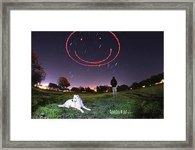 Sky Smile Framed Print by Andrew Nourse