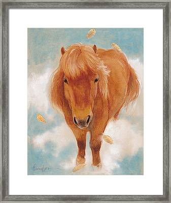 Skye In The Clouds Framed Print by Tracie Thompson