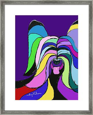 Skye Terrier Colors Framed Print by Terry Chacon