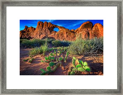 Skyline Arch In Late Day Sun Framed Print by Rick Berk