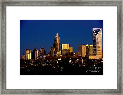 Skyline At Dusk Framed Print by Patrick Schneider